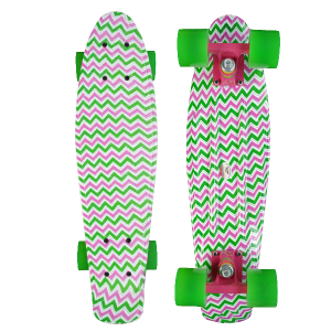 Holidays New design Water Printing 22inch Old School longboard skate board cruiser Penny replica