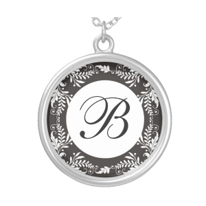 Monogram Letter B Pendant Necklace