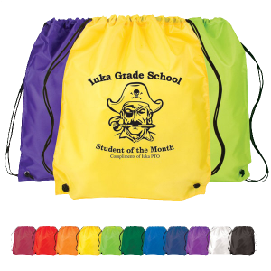 Solid-color Cinch-up Drawstring Backpack