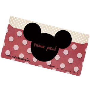 Disney Mousekeeping Printable Envelope